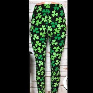 Pants - Shamrock St. Patrick's Day Leggings